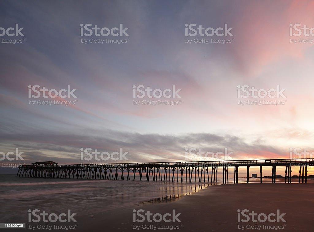 Myrtle Beach State Park Pier stock photo