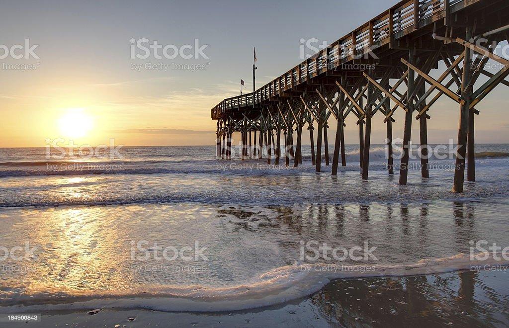 Myrtle Beach's Pier 14 stock photo