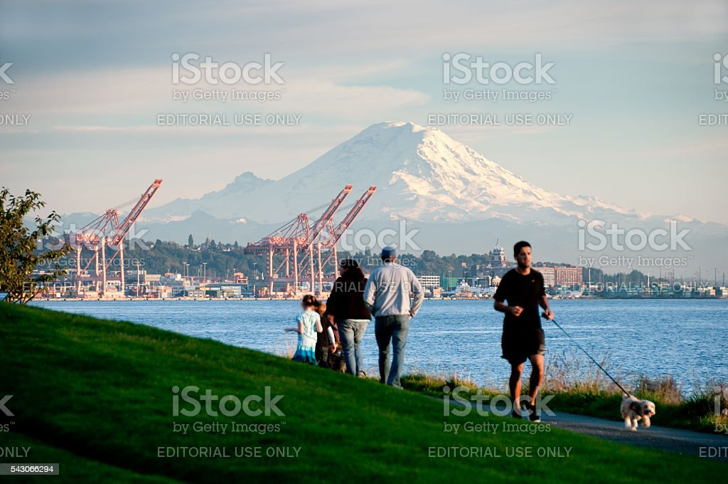 Myrtle Edwards Park stock photo
