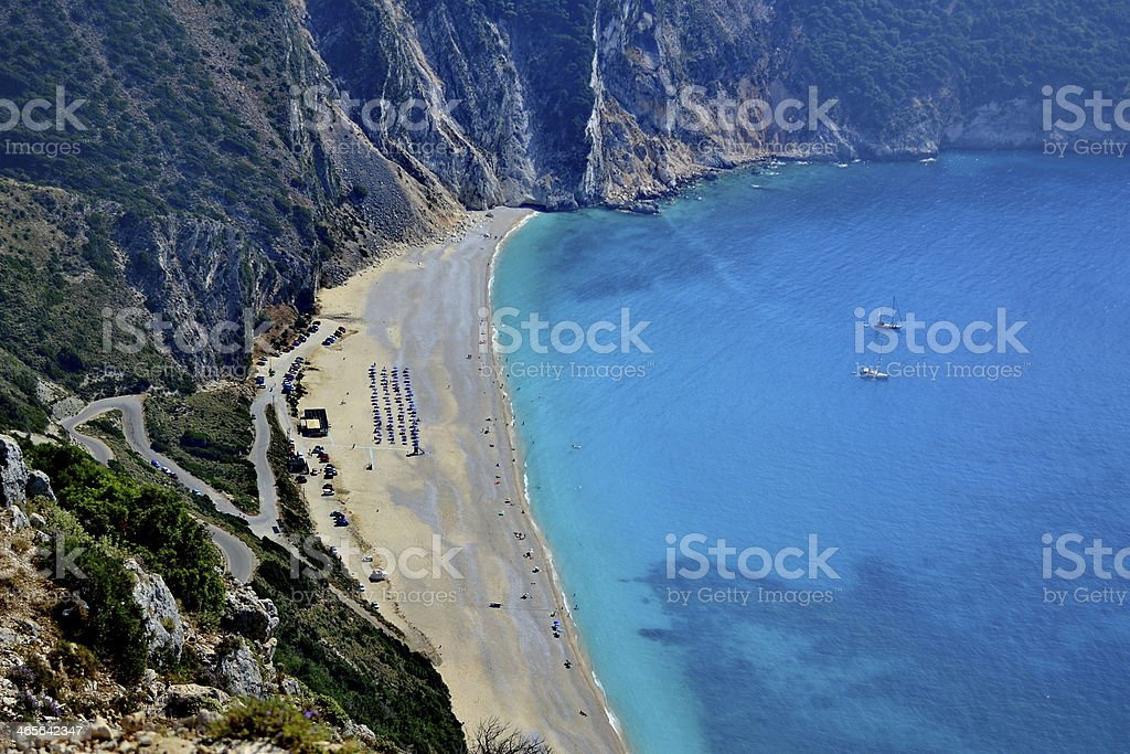 Myrtos Beach, Cephalonia stock photo