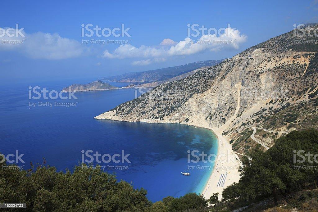 Myrtos Beach Kefalonia stock photo