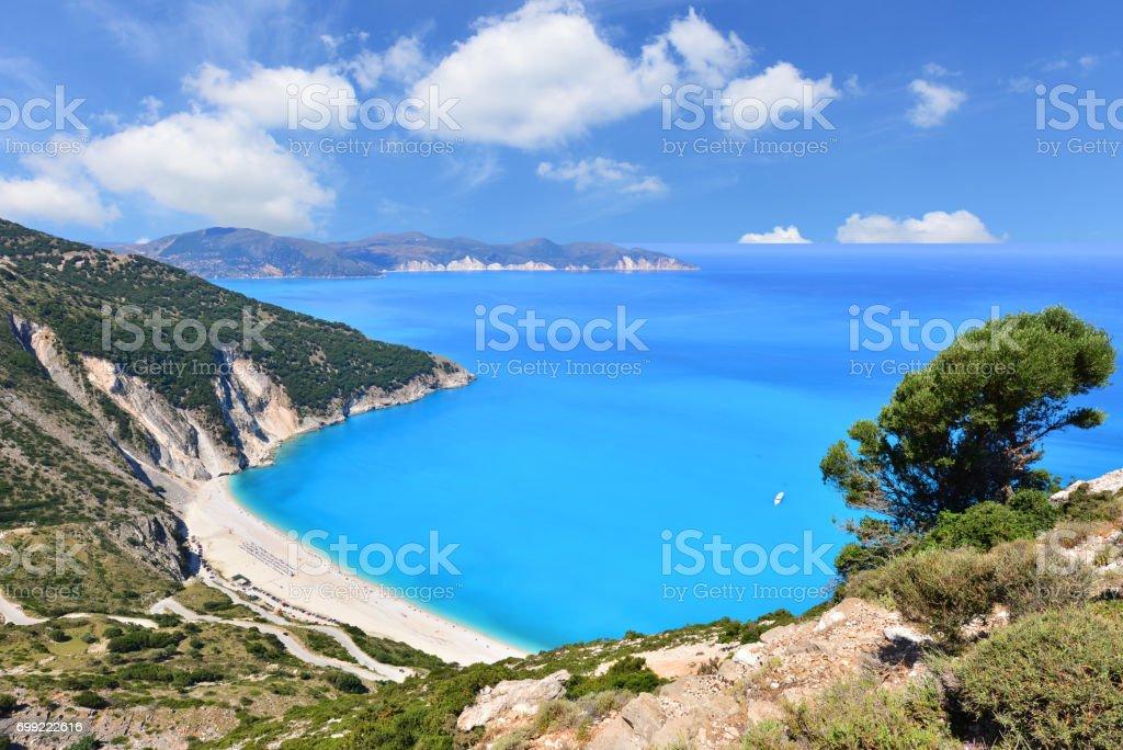 Myrtos beach stock photo