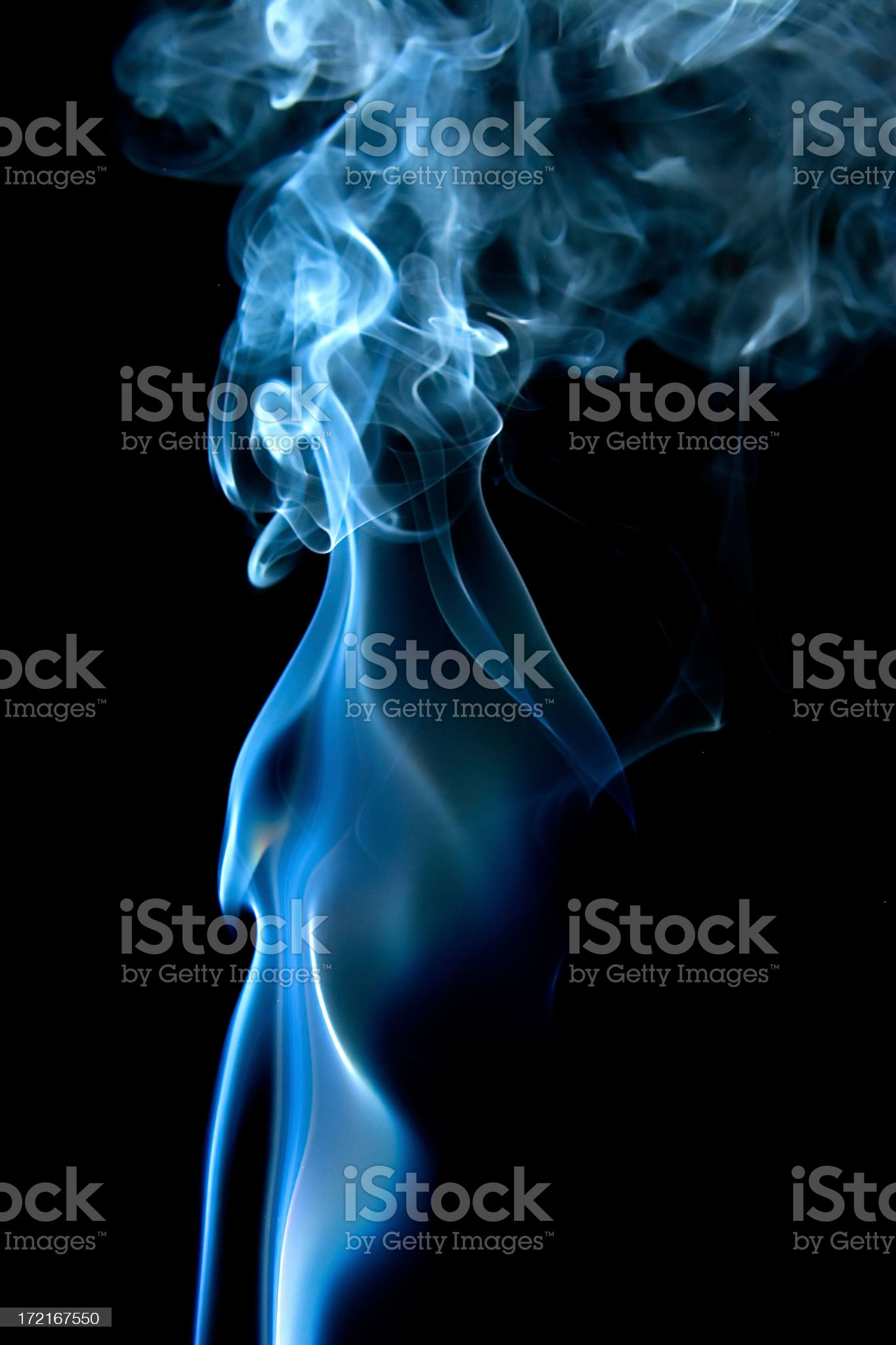 Myst in smoke royalty-free stock photo
