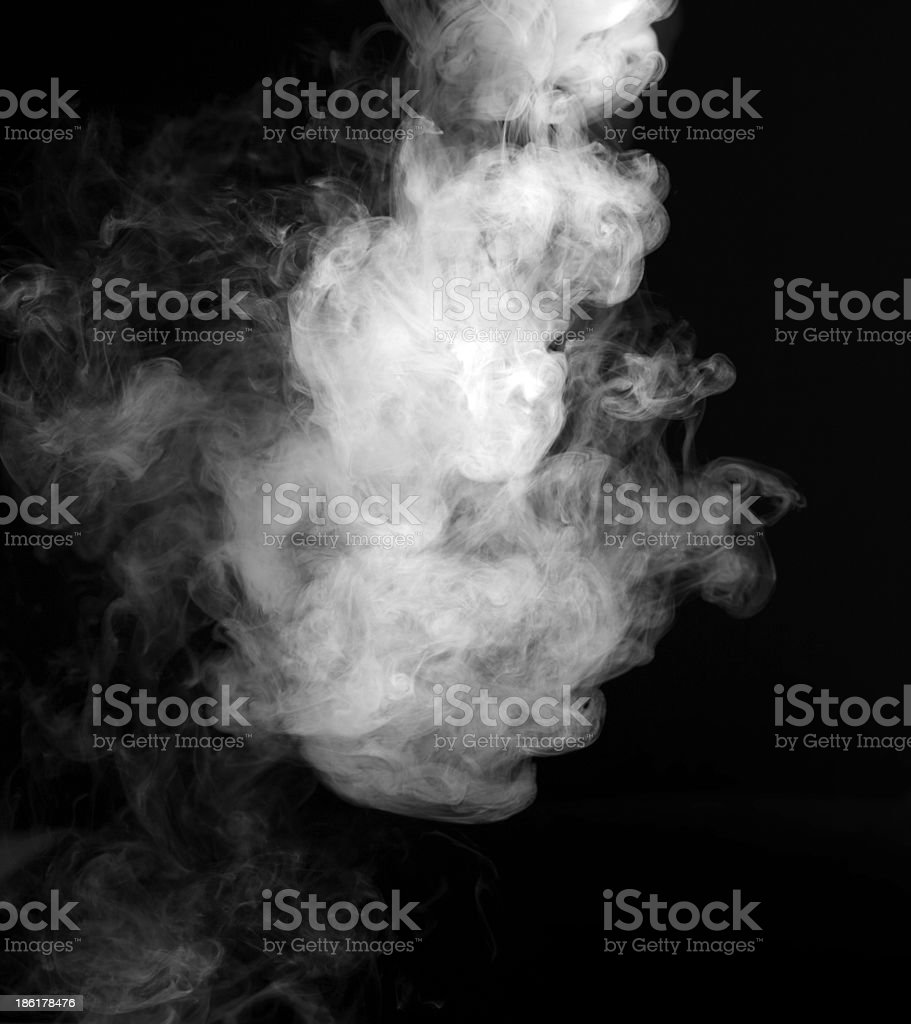 Mysterious abstract smoke background stock photo