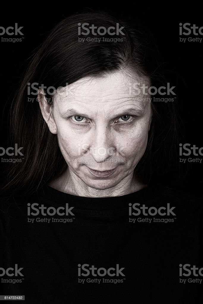 Mysterious Adult Woman Expression stock photo