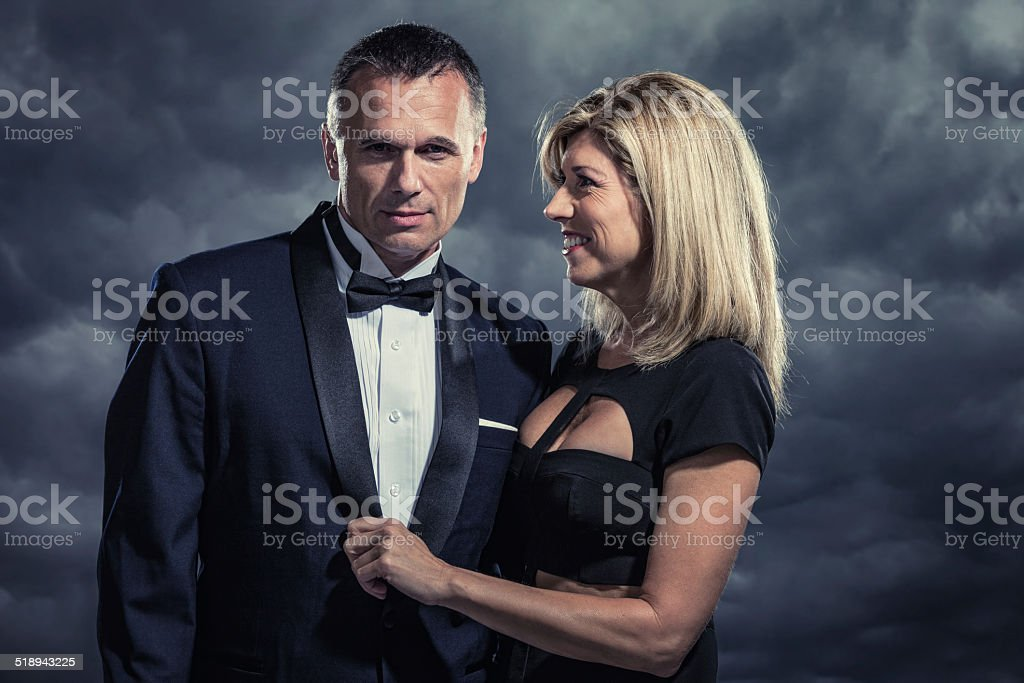 Mysterious Affluent Couple stock photo