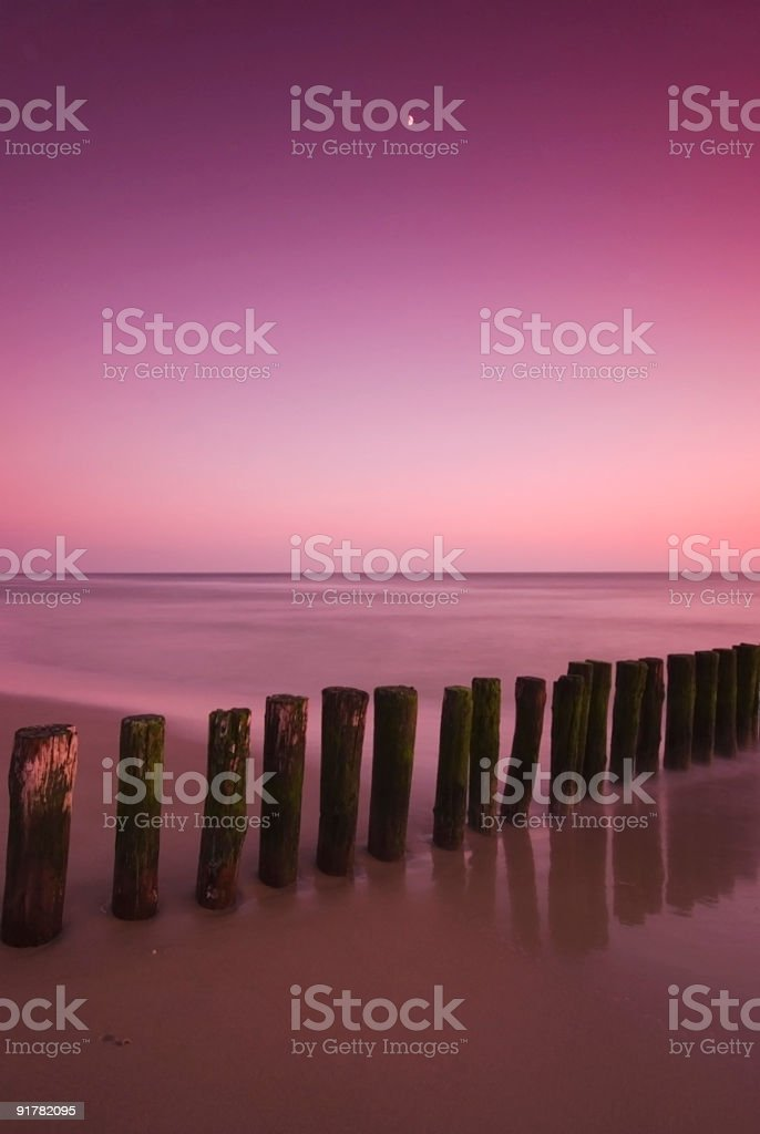 Mysterious beach stock photo