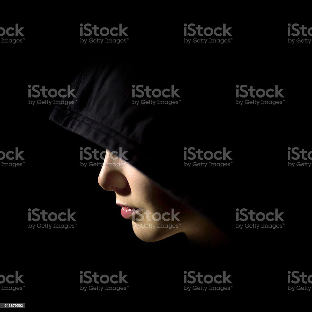 Mysterious beauty stock photo