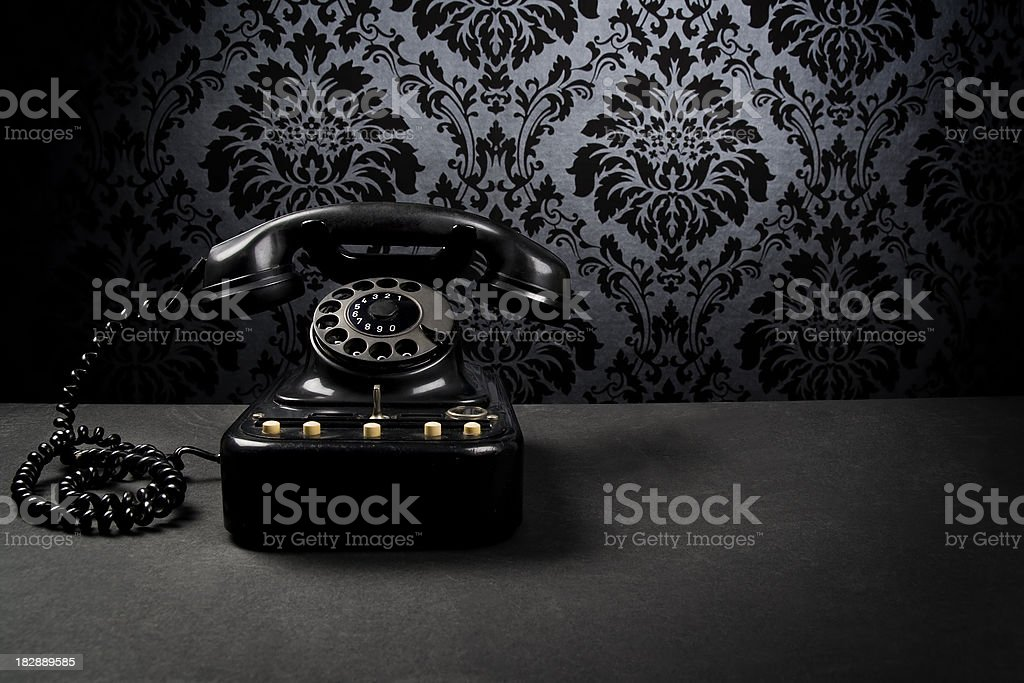 Mysterious black telephone royalty-free stock photo