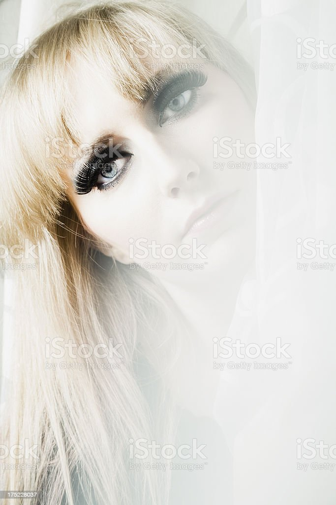 Mysterious blonde royalty-free stock photo