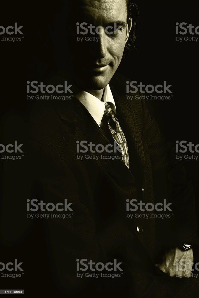 Mysterious Business Man royalty-free stock photo