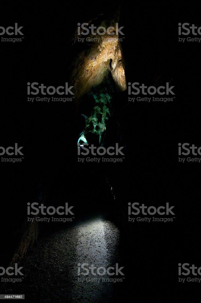 mysterious cavern stock photo