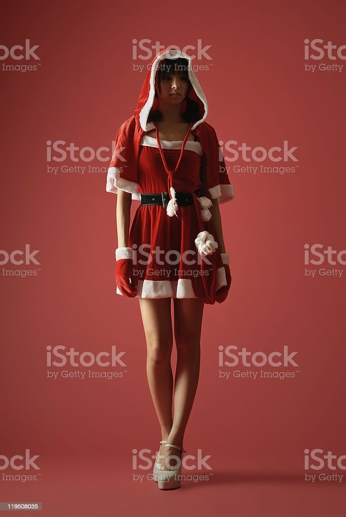 Mysterious Christmas girl royalty-free stock photo
