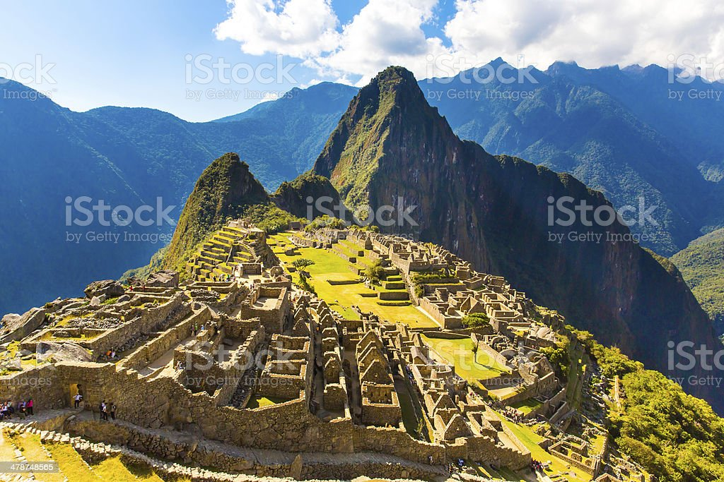 Mysterious city - Machu Picchu, Peru,South America stock photo