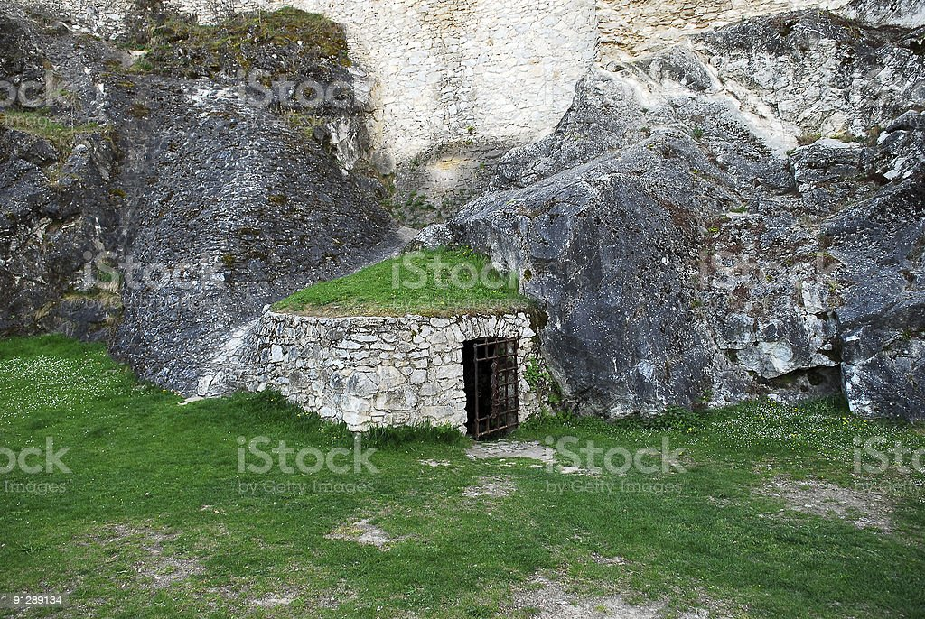 Mysterious Door in Rocks royalty-free stock photo