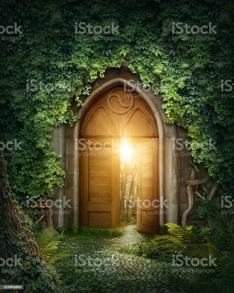 Mysterious entrance stock photo