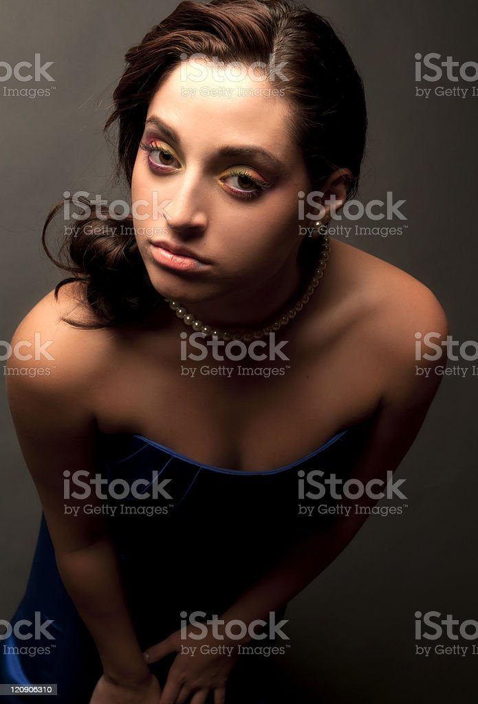 Mysterious Female Headshot Macro Portrait royalty-free stock photo