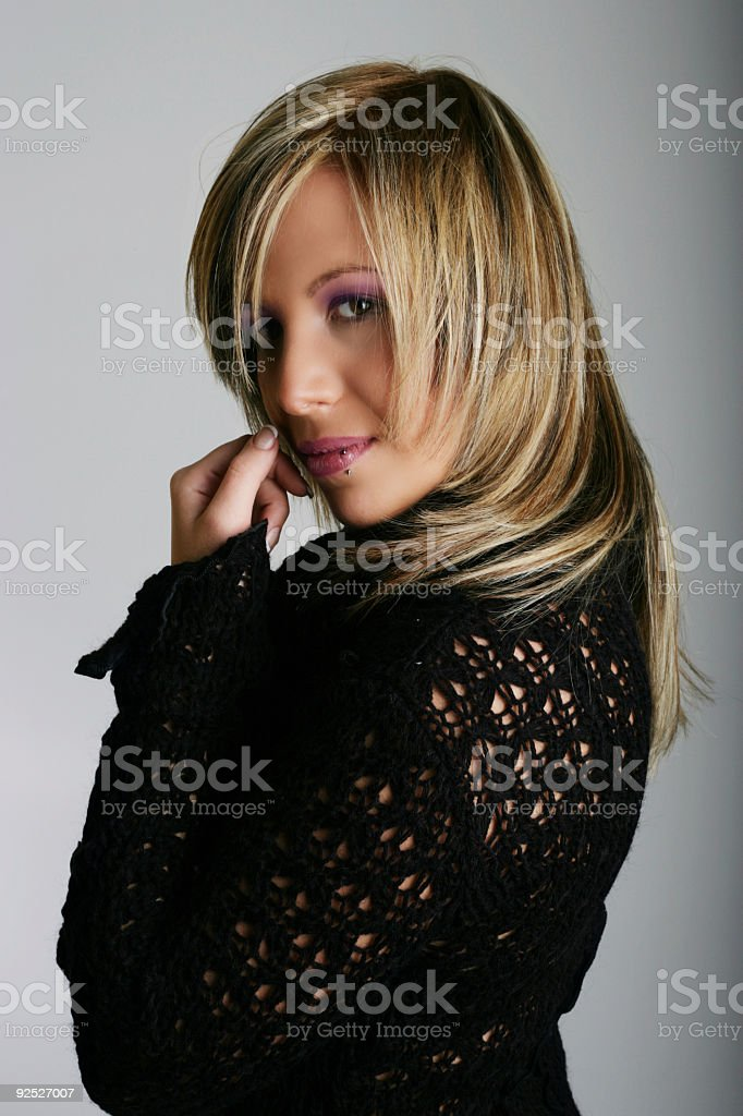 Mysterious girl royalty-free stock photo
