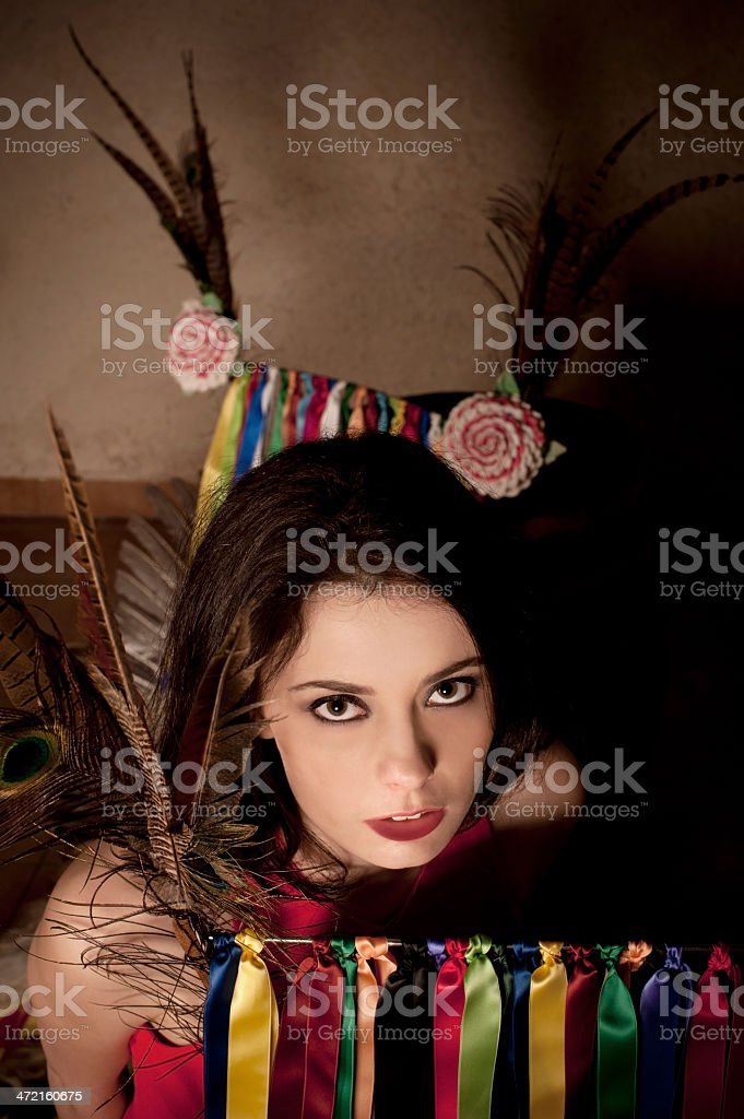 Mysterious Girl Portrait stock photo