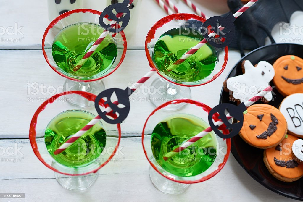 Mysterious green drink stock photo