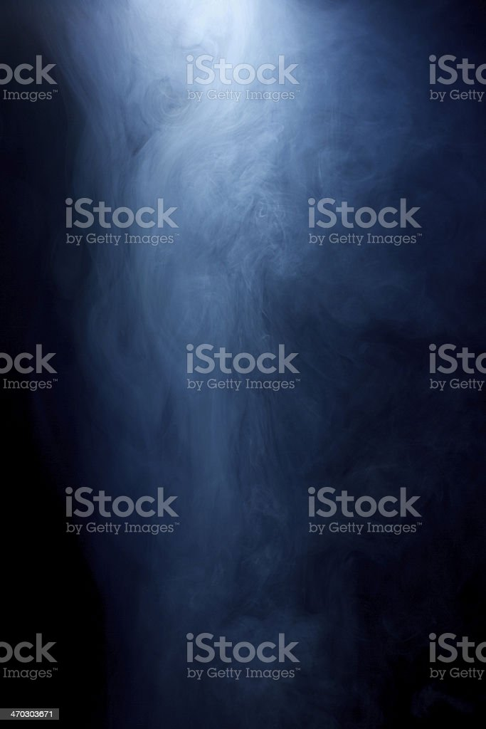 Mysterious, Hazy smoke on Black Background stock photo