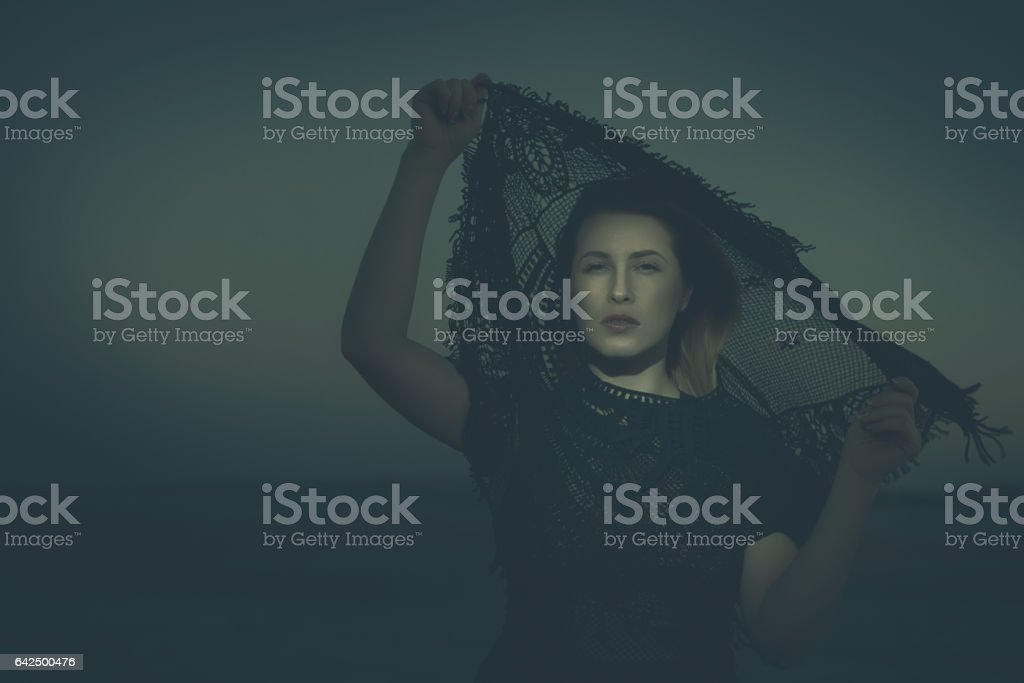 mysterious look stock photo