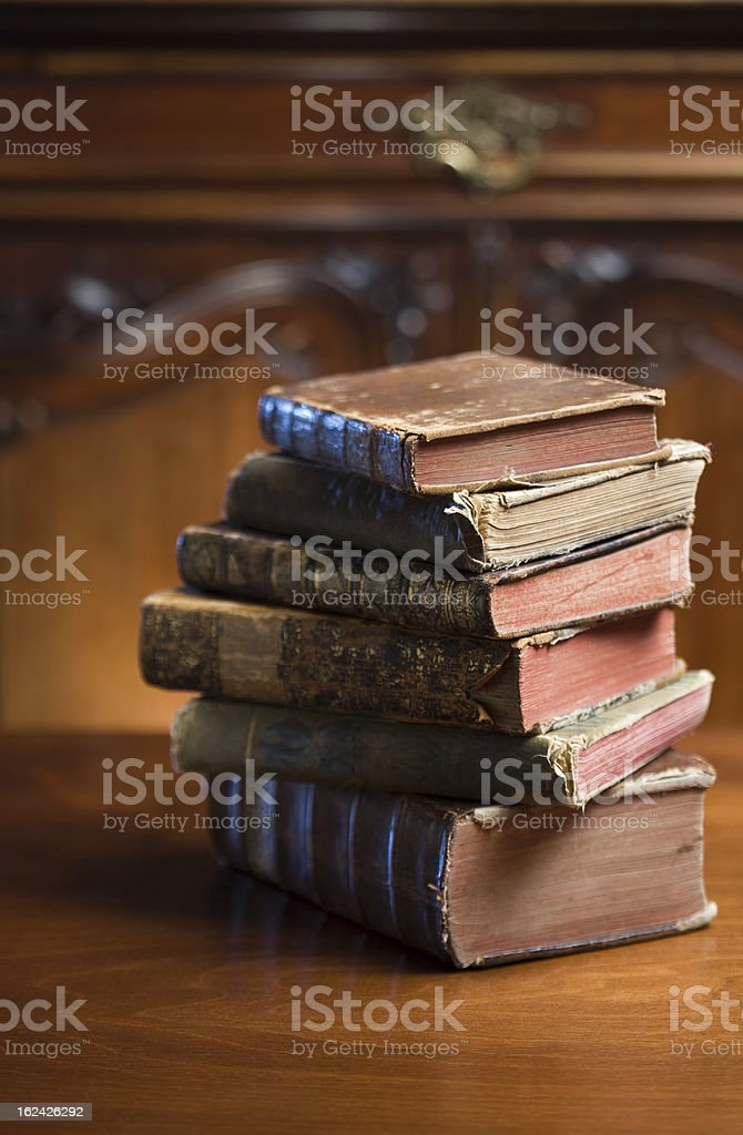 Mysterious looking anceint books. royalty-free stock photo