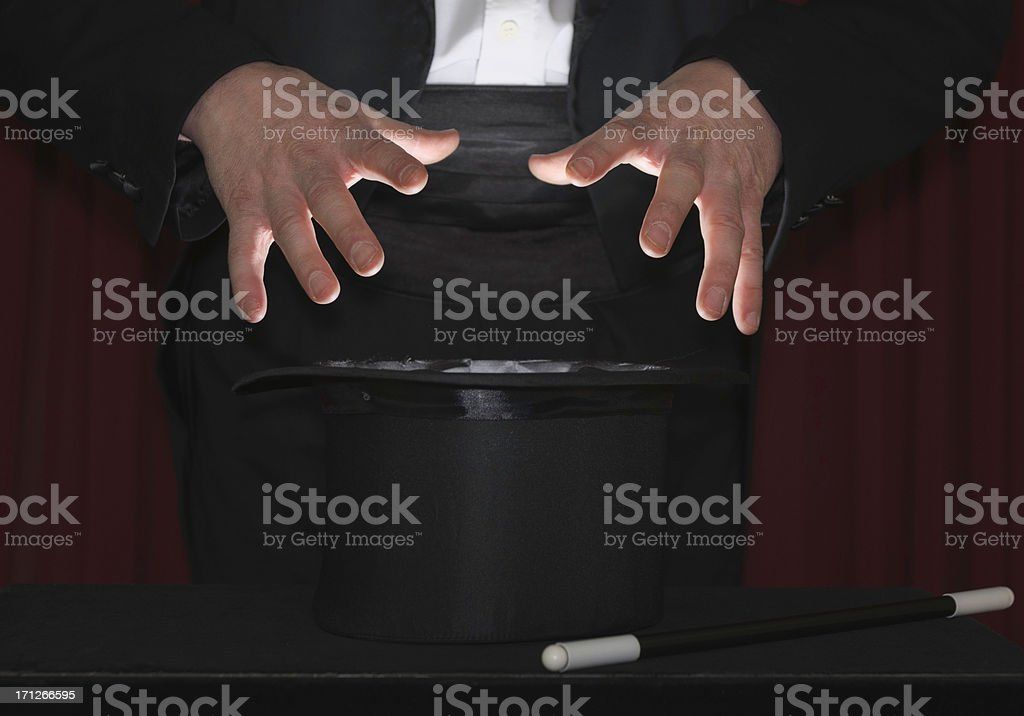 Mysterious magician's hands royalty-free stock photo