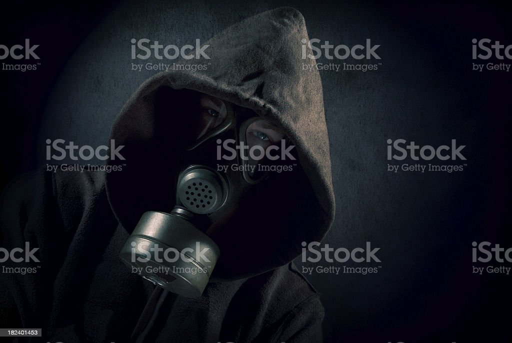 Mysterious man in the dark shadow royalty-free stock photo