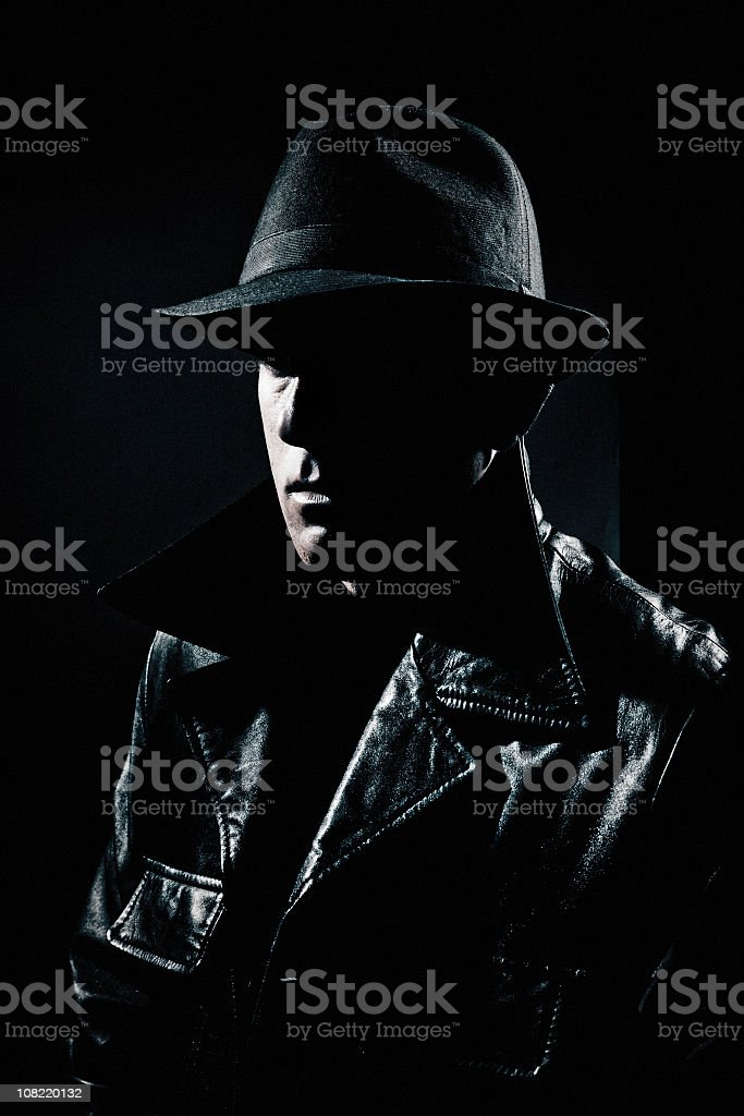 mysterious man royalty-free stock photo
