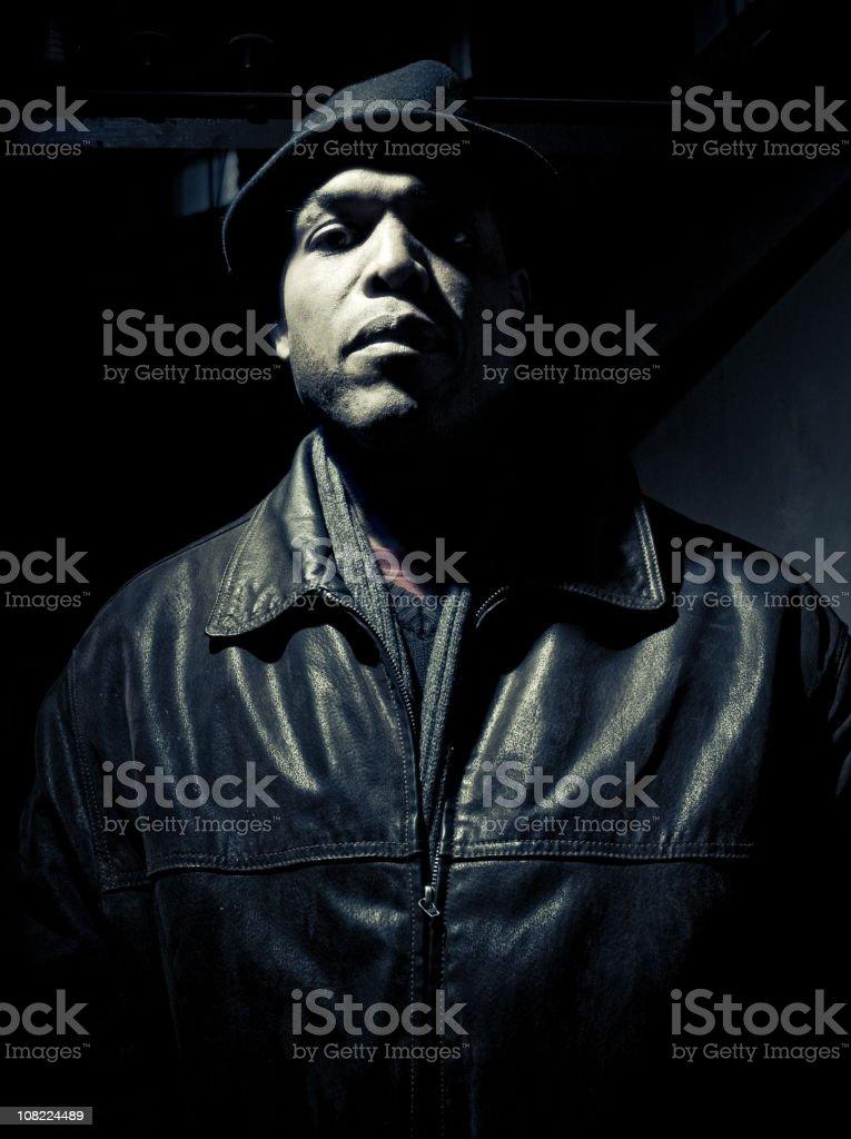 mysterious man stock photo