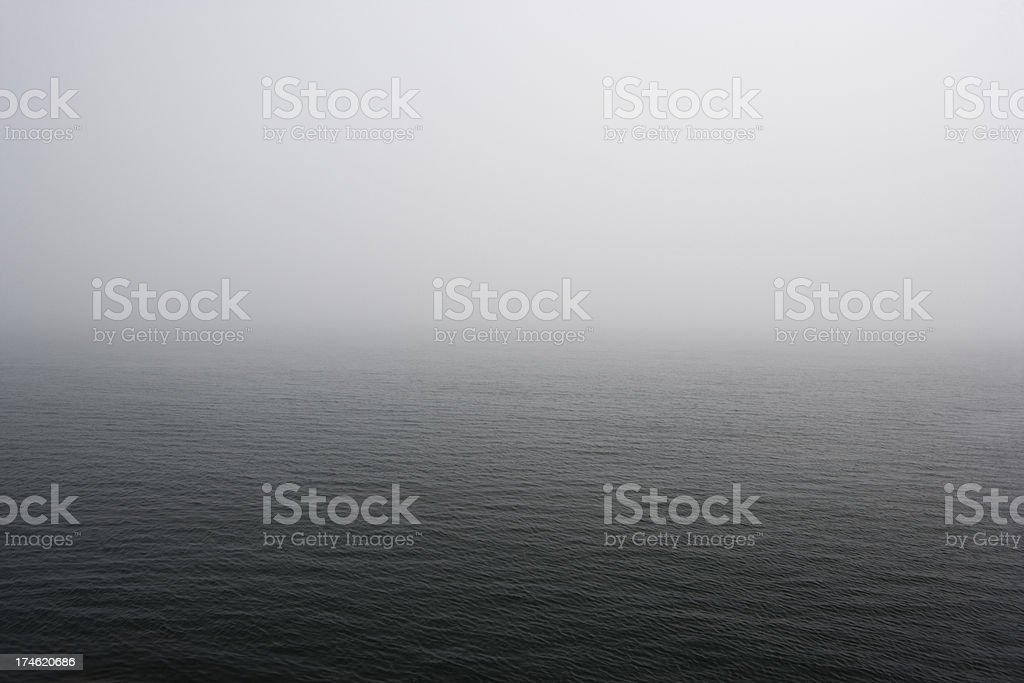 Mysterious mist over the ocean royalty-free stock photo
