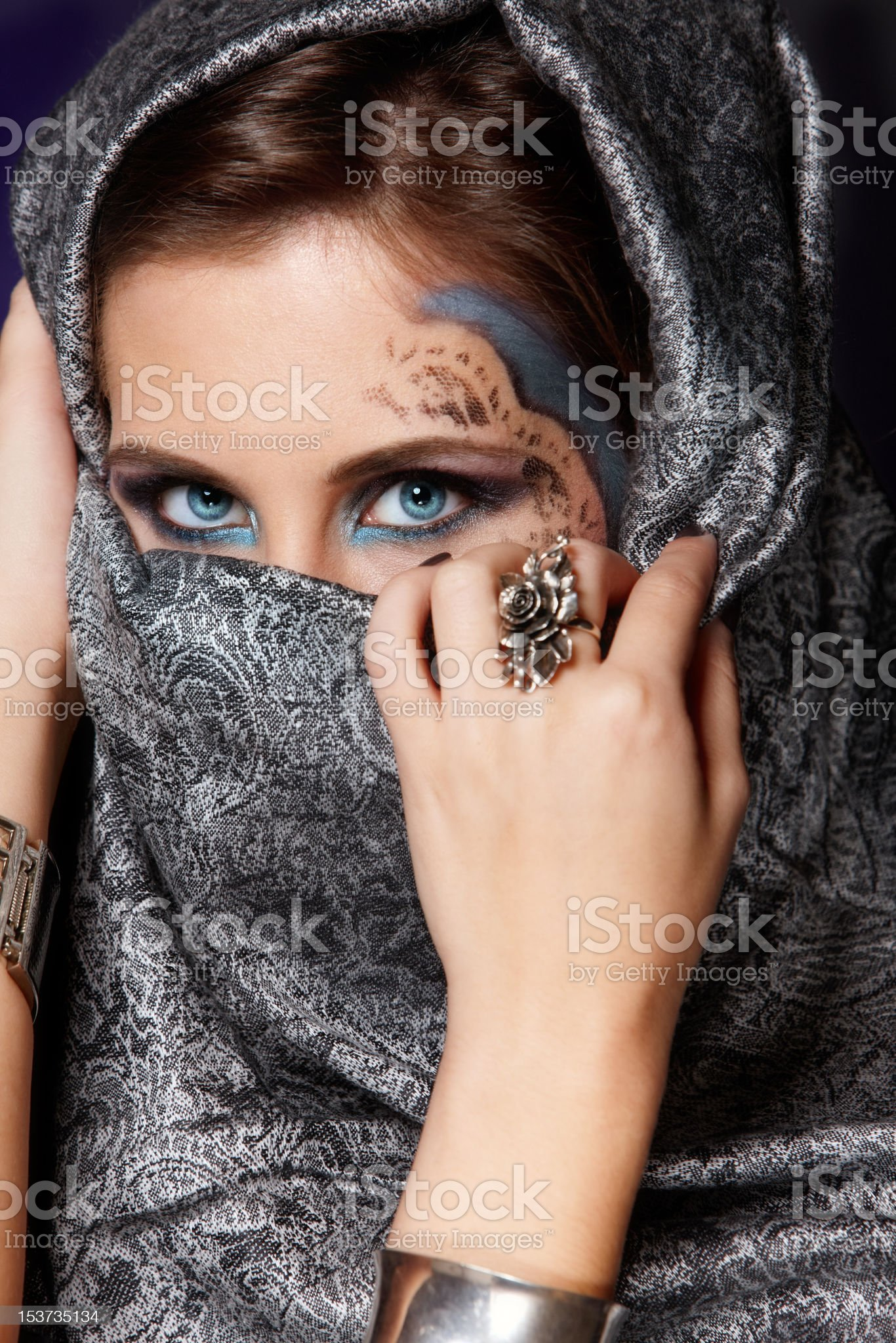 Mysterious muslim woman royalty-free stock photo
