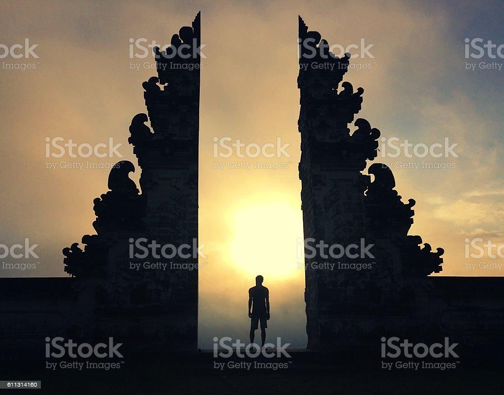 Mysterious portal stock photo