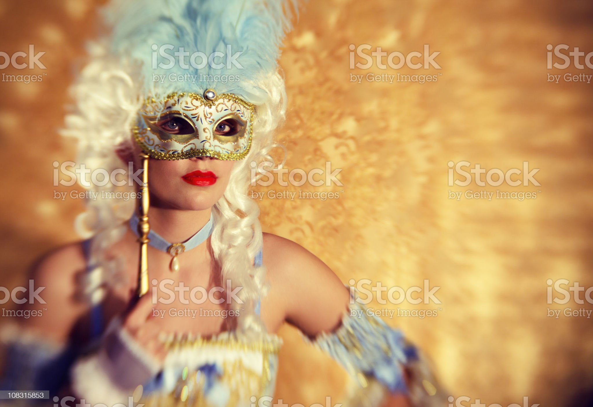 Mysterious Princess portrait with Masquerade Mask royalty-free stock photo