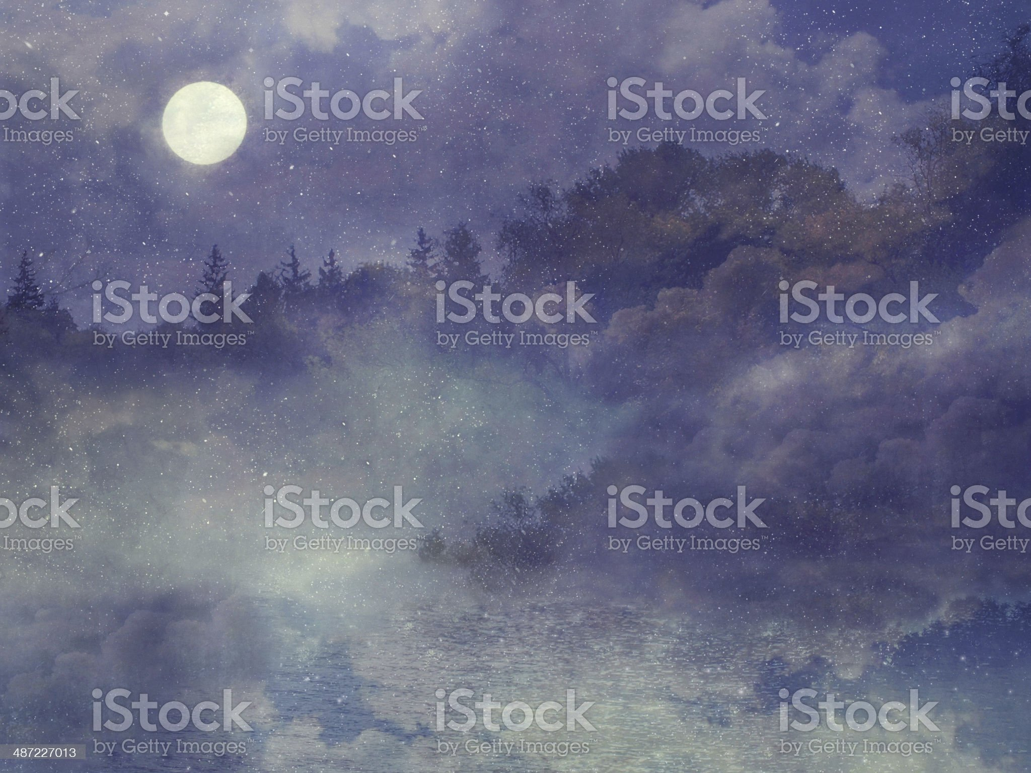 Mysterious purple forest royalty-free stock photo