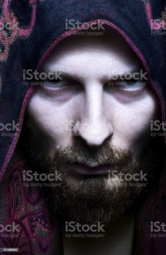 Mysterious scary looking man royalty-free stock photo