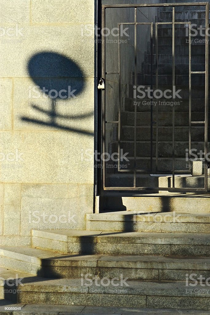 Mysterious shadows stock photo