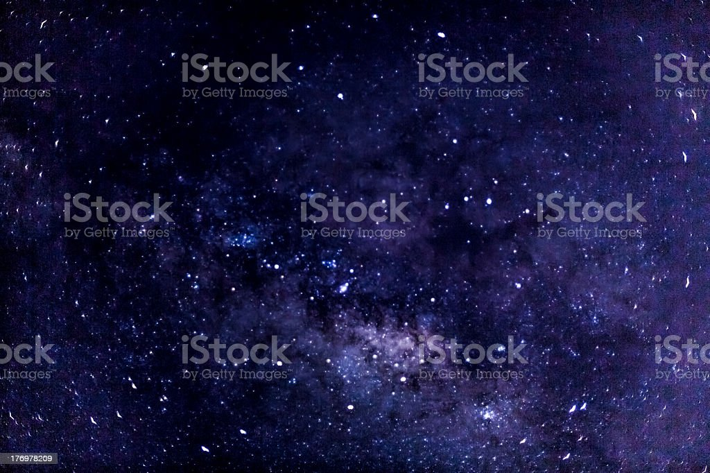 Mysterious shiny Milky Way in the galaxy royalty-free stock photo