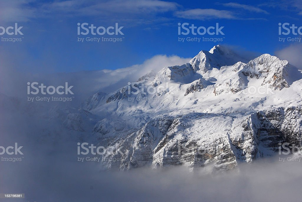 Mysterious snowy mountains royalty-free stock photo