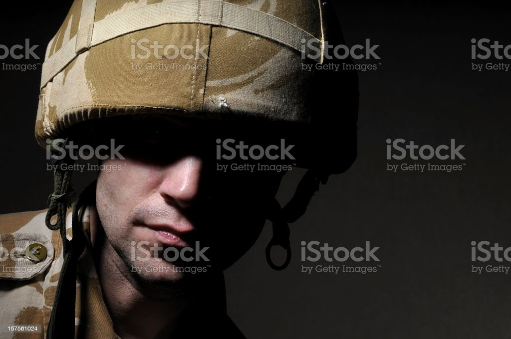 Mysterious Soldier royalty-free stock photo