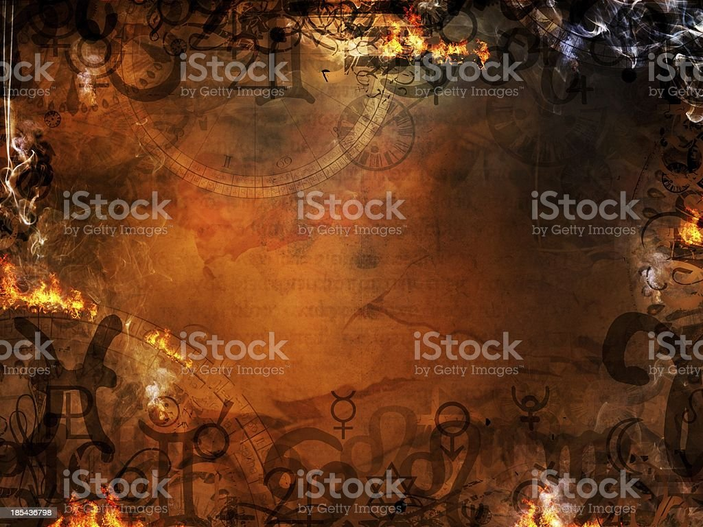 mysterious spells background stock photo