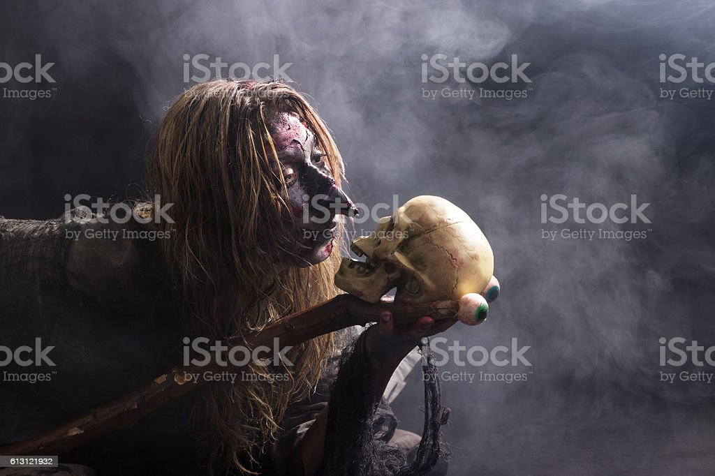 Mysterious witch stock photo