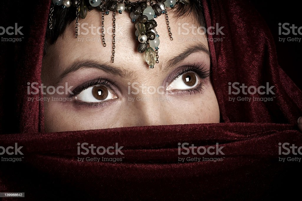 Mysterious woman. royalty-free stock photo
