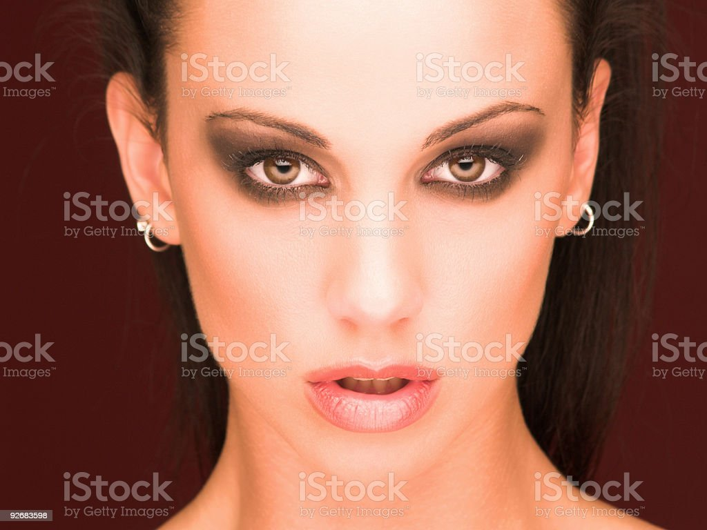 Mysterious woman royalty-free stock photo