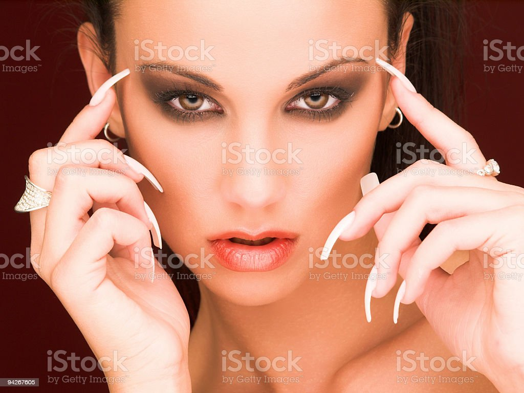 Mysterious woman # 4 royalty-free stock photo