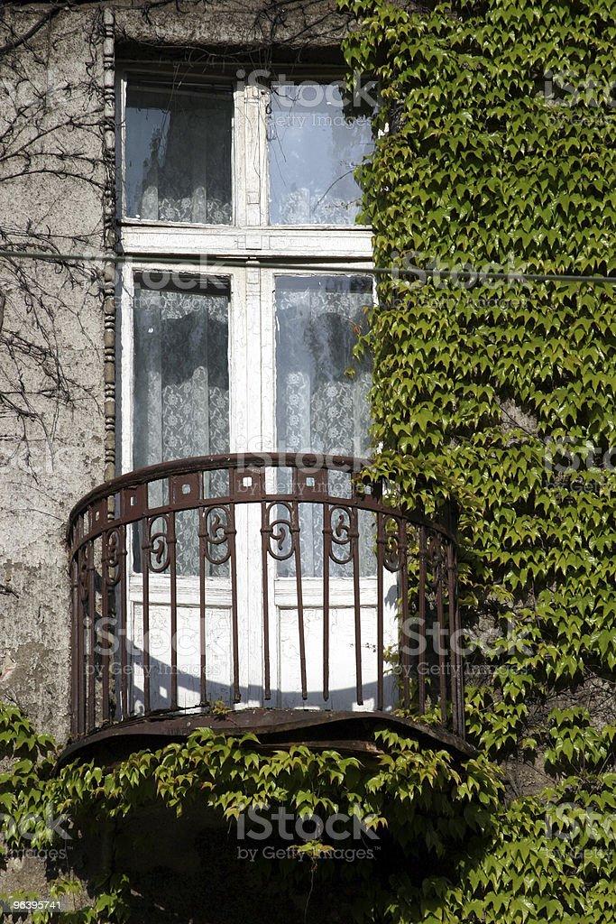 Mysterious,old,green balcony royalty-free stock photo