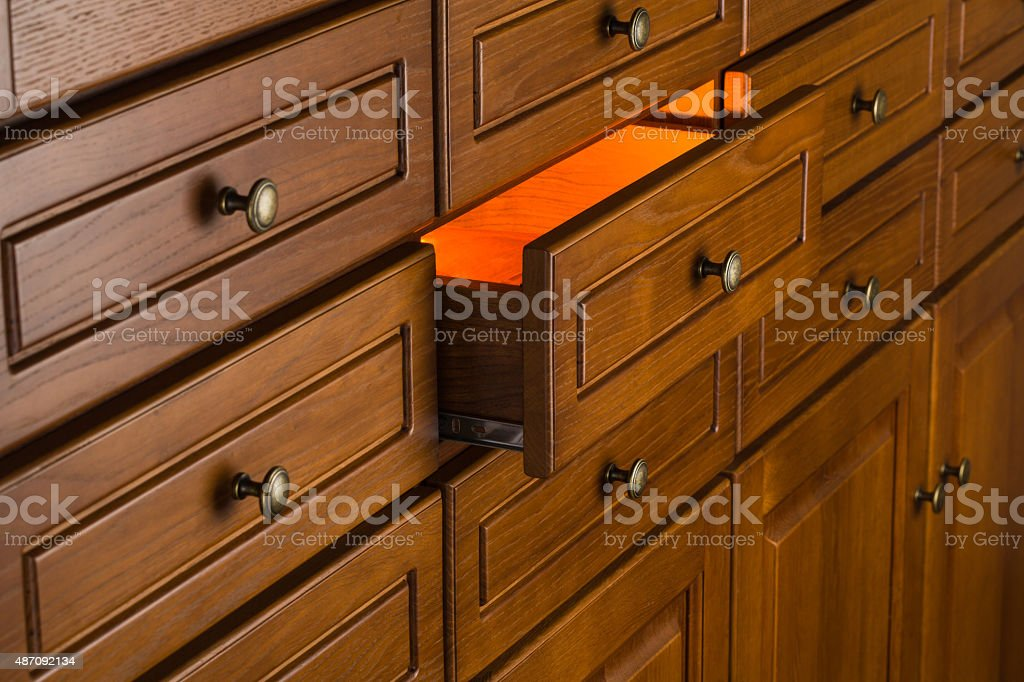 mystery drawer stock photo