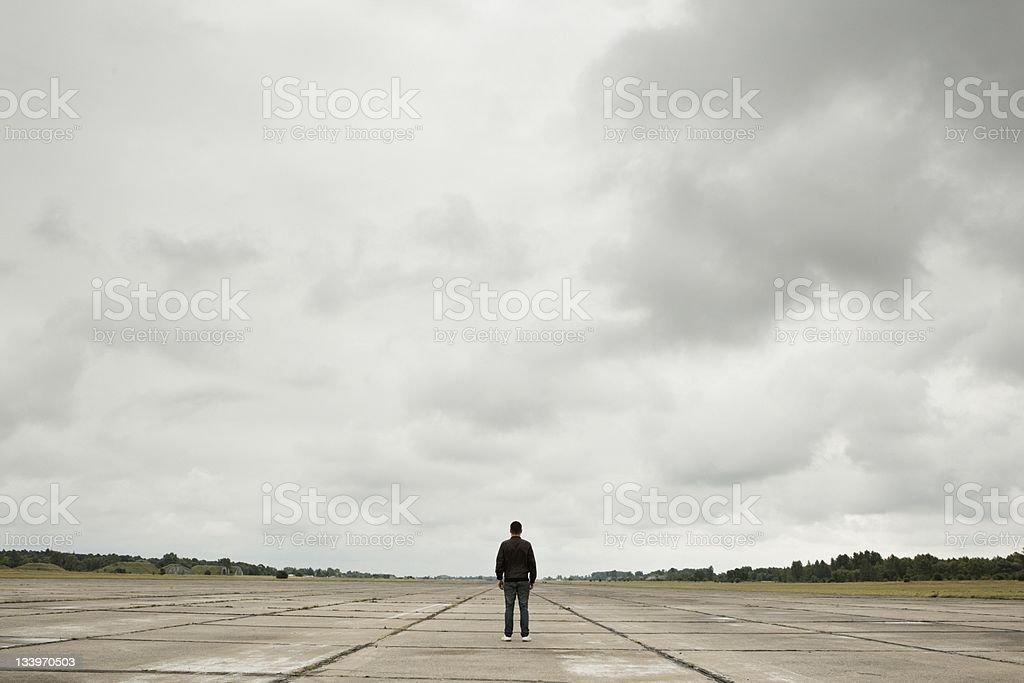 Mystery man stock photo