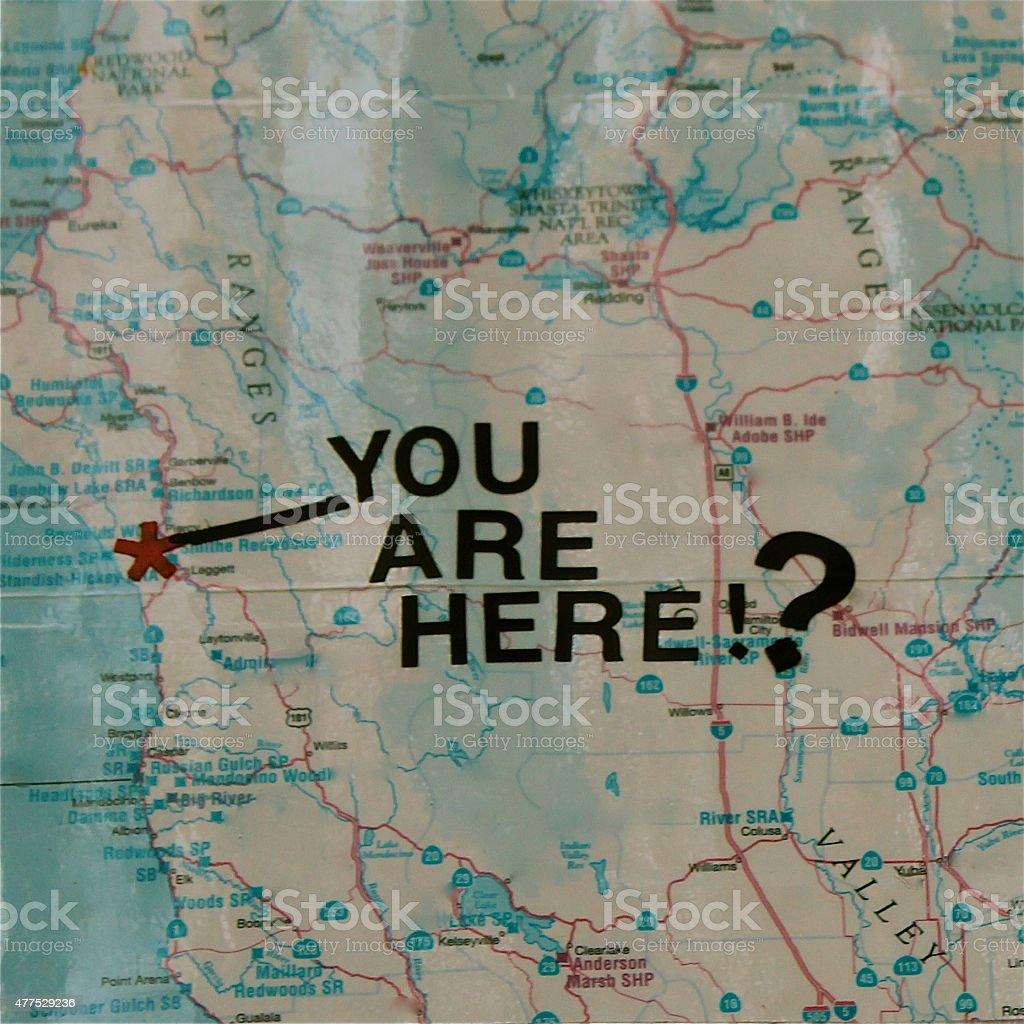 Mystery Map stock photo
